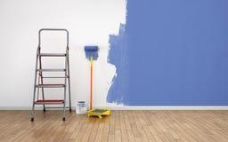 Malować pustego pokój Zdjęcia Royalty Free