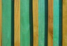 Malować zielonej farby drewniane deski Obraz Stock
