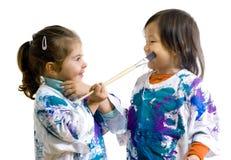malowanie dzieci Zdjęcia Stock