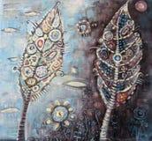 malowanie kolorowych abstrakcyjne Fotografia Royalty Free