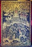 Malowidło ścienne obraz w świątyni obrazy stock