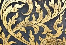 Malowidła ścienne antyczny Tajlandia. zdjęcia royalty free
