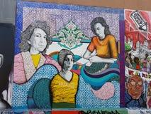 Malowidła ścienne W misja okręgu, San Fransisco obrazy stock