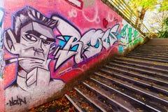 Malowidła ścienne w odważniaku, Niemcy Zdjęcia Stock
