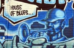 Malowidła ściennego śródmieście Halifax Fotografia Stock