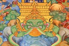 Malowidła ściennego Buddysty religia. Zdjęcie Royalty Free
