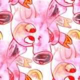 Malowidła ściennego tła świni wzoru tła tekstury bezszwowa ściana Obraz Stock
