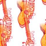 Malowidła ściennego tła gitary tła tekstury bezszwowy deseniowy wa Obraz Royalty Free