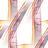 Malowidła ściennego tła władcy bezszwowa deseniowa tekstura Fotografia Stock