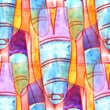 Malowidła ściennego tła wzoru rakiety tła bezszwowa tekstura wal Zdjęcia Royalty Free