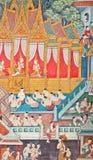 malowidła ściennego tradycyjny tajlandzki Obrazy Royalty Free