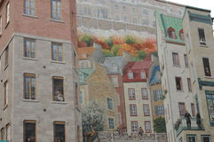 Malowidła ściennego wielo- piętrowy Fotografia Royalty Free