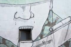 Malowidło ścienne żołnierz Zdjęcia Royalty Free