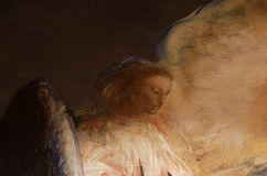 Malowidło ścienne anioł Obrazy Royalty Free