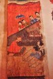 malowidło ścienne antyczna buddyjska świątynia Zdjęcia Royalty Free