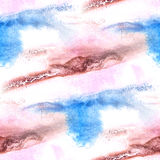 Malowidło ścienne błękitny, brown tła bezszwowy wzór Obrazy Stock