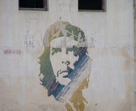 Malowidło ścienne Che Guevara w Hawańskim, Kuba obraz royalty free