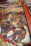 Malowidło ścienne Diego Rivera, Meksyk Zdjęcie Stock
