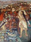 Malowidło ścienne Diego Rivera, Meksyk Zdjęcie Royalty Free