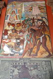 Malowidło ścienne Diego Rivera, Meksyk Obrazy Stock