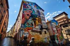 Malowidło ścienne Eskuz Esku, zapaterÃa, jeden przykład malowidło ścienne marszruta w Vitoria, Hiszpania obrazy stock