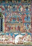 Malowidło ścienne fresku fasada przy humoru monasterem Obraz Royalty Free