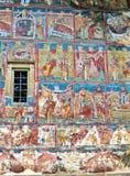 Malowidło ścienne fresku fasada przy humoru monasterem Zdjęcie Stock