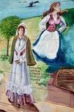 Malowidło ścienne mówi opowieść acadians ludzie Fotografia Stock