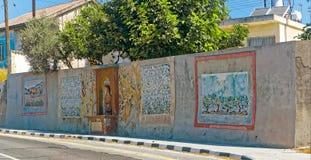 Malowidło ścienne malujący na ścianie Obrazy Royalty Free