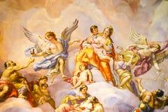 Malowidło ścienne na ścianie w Karlskirche Obraz Royalty Free