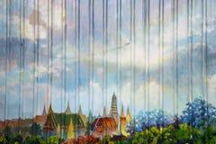 Malowidło ścienne na metalu ogrodzeniu zdjęcia royalty free