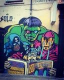Malowidło ścienne obraz hulk na ścianie w Londyn Obraz Royalty Free