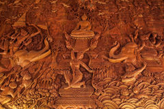 Malowidło ścienne obraz robić drewno Obrazy Stock
