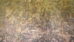 Malowidło ścienne obraz w Angkor Wat, siemreap Cambodia fotografia stock