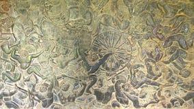Malowidło ścienne obraz w Angkor Wat, siemreap Cambodia fotografia royalty free