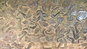 Malowidło ścienne obraz w Angkor Wat, siemreap Cambodia obraz stock