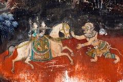 Malowidło ścienne obraz w pałac królewskim w Phnom Penh, Kambodża fotografia stock