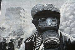 Malowidło ścienne przy Bogside, Derry, Północny - Ireland zdjęcia royalty free