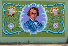 Malowidło ścienne Sławny Memphis miejscowy Na James drodze w Memphis, Tennessee zdjęcie royalty free