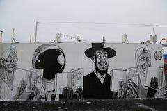 Malowidło ścienne sztuka przy nowymi ulicznymi sztuki przyciągania Coney sztuki ścianami przy Coney Island sekcją w Brooklyn Zdjęcia Royalty Free