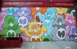 Malowidło ścienne sztuka przy Obniżałam wschodnią częścią w Manhattan zdjęcie stock