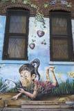 Malowidło ścienne sztuka przy Wschodnim Williamsburg w Brooklyn Zdjęcia Royalty Free