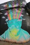 Malowidło ścienne sztuka przy Wschodnim Williamsburg w Brooklyn Obraz Stock