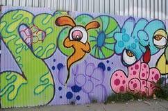 Malowidło ścienne sztuka przy Wschodnim Williamsburg w Brooklyn Obrazy Royalty Free