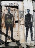 Malowidło ścienne sztuka w Ushuaia, Argentyna Zdjęcia Royalty Free