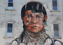 Malowidło ścienne sztuka wewnątrz przy Wschodnim Williamsburg w Brooklyn Fotografia Royalty Free