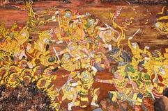 malowidło ścienne tajlandzki Zdjęcie Royalty Free