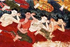 Malowidło ścienne tajlandzki obraz Obrazy Royalty Free