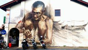 Malowidło ścienne w Balik Pulau Penang obraz stock