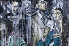 Malowidło ścienne w misja okręgu Obrazy Royalty Free